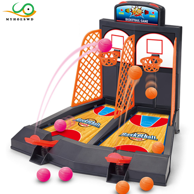 MYHOESWD Mini Basketball Game Table Play Toys Family Sport Home Toy Balls Basketball Shooting Machines Plastic Office Game Toys shooting game finger desktop mini golf toys kids gift