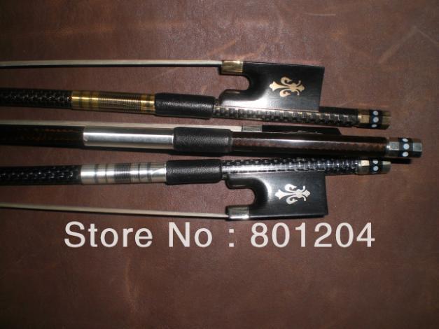 3PCs New Violin Bow High quality Carbon Fiber Bow 4/4