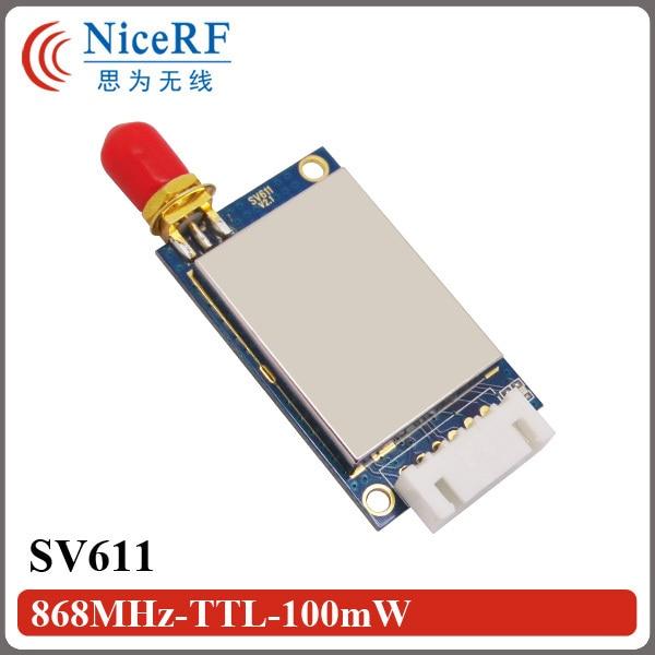 СВ611-868МХз ТТЛ интерфејс | Висока осетљивост -121дБм | Модул за примопредајник Си4432 ГФСК (не укључује антене)