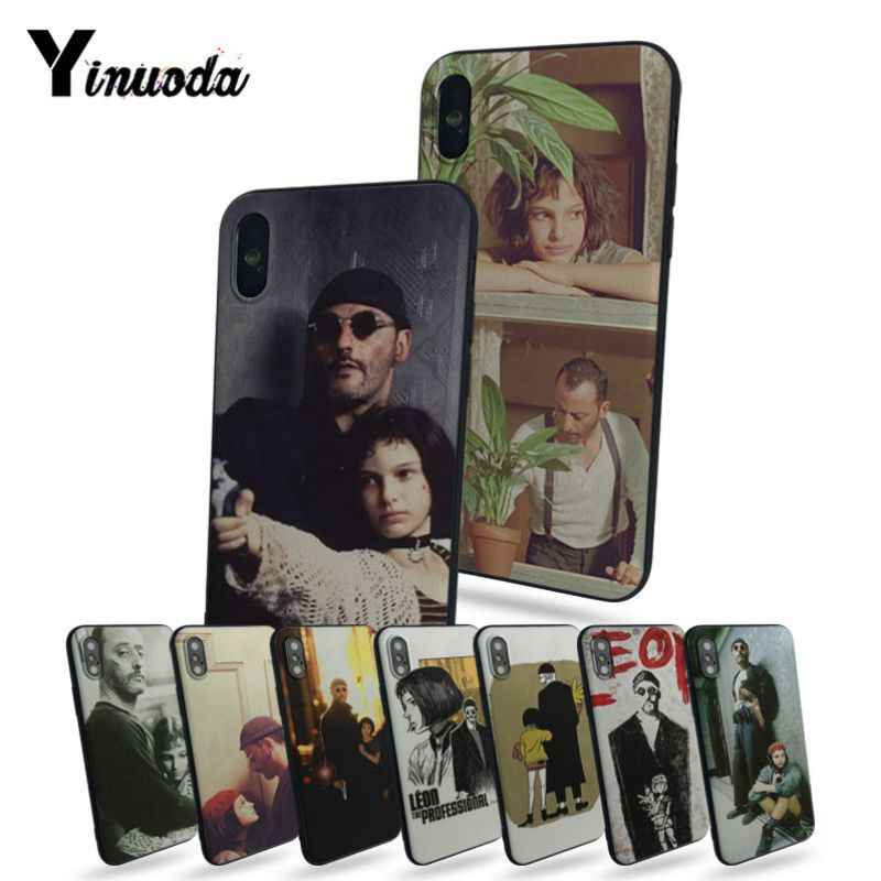 Yinuoda for iphone 7 plus case Leon And Matilda Coque Shell Phone Case For iphone 5 5s 5c SE 6 7plus 8 X Mobile cover