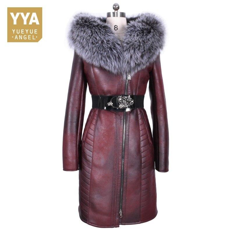 2019 Новое Женское зимнее длинное пальто из натурального меха плюс размер 8XL приталенное зимнее пальто моторный байкер Мужская куртка с капюш