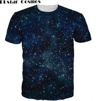 PLstar Cosmos Galaxy T Shirt Sexy Tee Women Men Summer Clothing Tops Nebula Space 3d Print