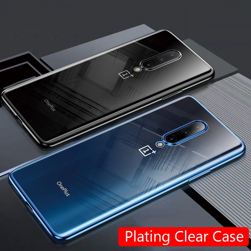 Lainergie For OnePlus 7 Pro Case 7T Cases Plating Soft Clear Slim Phone Cover For One Plus 7 Pro OnePlus 7 7T Pro Coque Fundas
