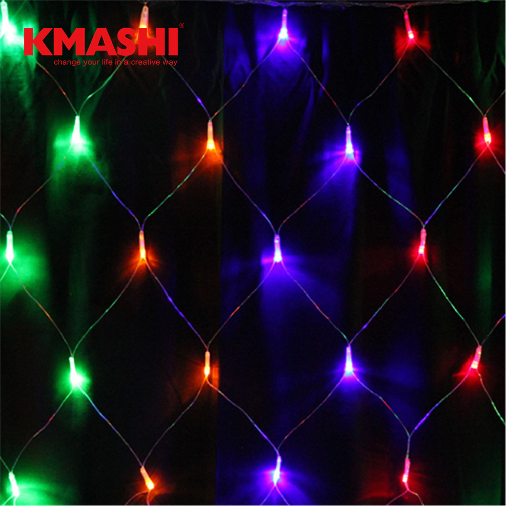 Outdoor/ indoor 8 Modes LED Net Lights Christmas Lights 672 LEDs 4 x 6m LED Bulbs Outdoor Strings Light for Holiday Waterproof
