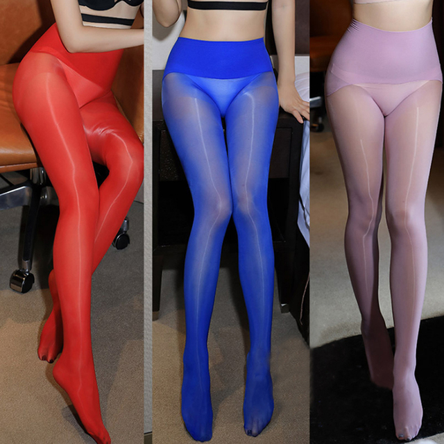 Oil Glossy Ultrathin Seamless Transparent Magic High Waist  Pantyhose 2