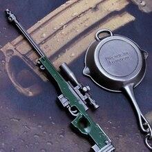 En smuk lille gave Mini Gun Hanger 1 sæt AWM Sniper Rifles + Flad bunden AKM 98K Model våben til Boy Jsuny Toy