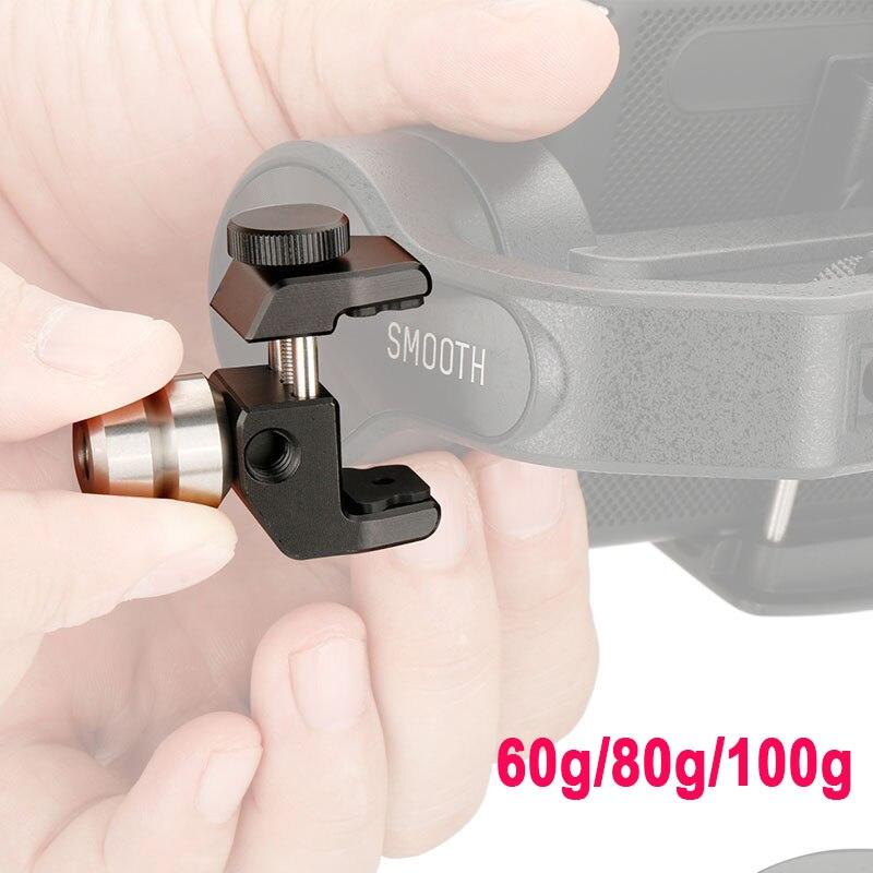 Cardán accesorios contrapeso para equilibrar momento lente cubierta de la caja del teléfono para Zhiyun liso 4 DJI Osmo mobile 2 Moza mi ni-mi