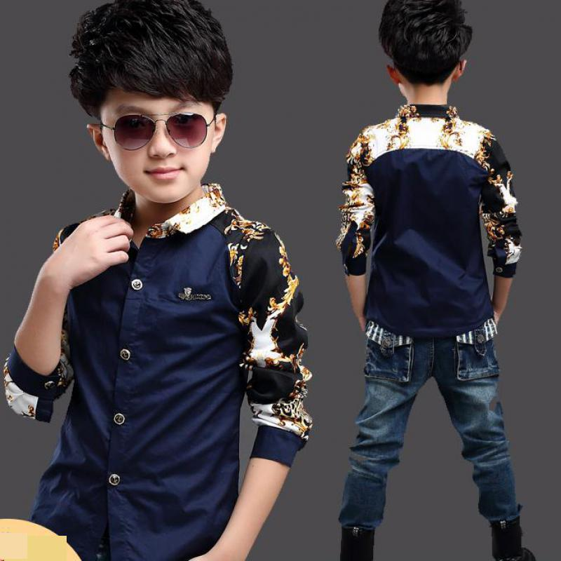 Baby Kids Print   Blouses   Fall Boys Long Sleeve   Shirts   2019 New Arrival Fashion Hot Sale Tops   Blouse   Back to School Outfit Costume