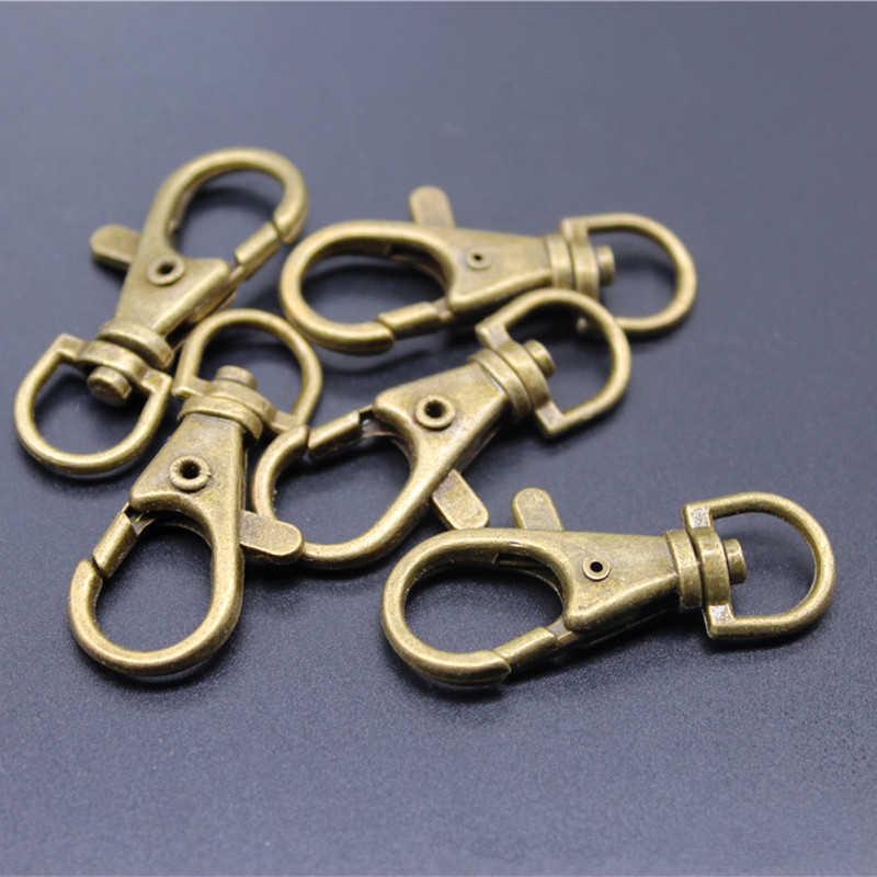 แฟชั่น DIY เครื่องประดับทำอุปกรณ์เสริม Retro Gold Keychain Key Chain Ring ผู้หญิงกระเป๋า Charms พวงกุญแจรถอะไหล่ของเล่นสุนัขเชือก trinket