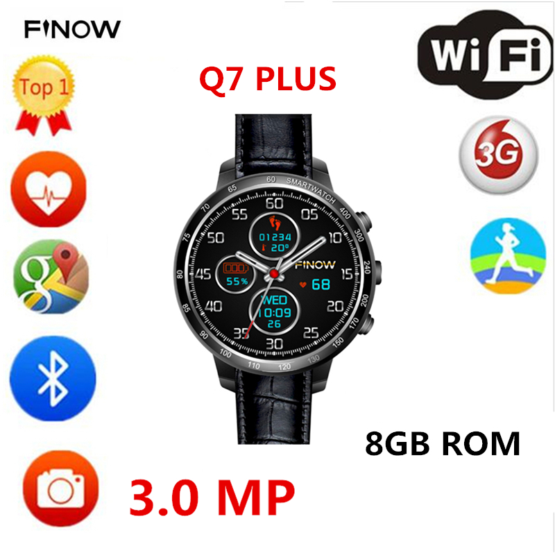 New smart watch Q7 plus with 3.0MP Camera support 32GB TF card Android 5.1 3G Wifi bluetooth for Android PK les5 LES1 smartwatch