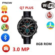 Novo relógio inteligente Q7 plus com 3.0MP Camera suporte 32 GB TF cartão Android 5.1 3G Wifi do bluetooth para o Android PK les5 LES1 smartwatch