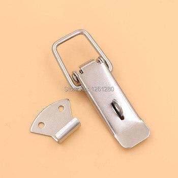 10 piezas metal hasp industrial instrumento de bloqueo hebilla nevera caja bolsa resorte Duckbill hasp casa muebles hardware parte