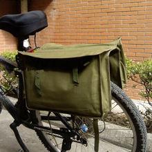 Original Vintage OD verde militar estilo sobrante mensajero bolsa bicicleta alforja