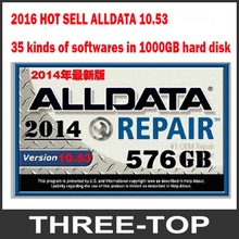 Alldata 10.53 mitchell on demand software 35 in 1 WD/TOSHIBA/HGST/ Seagate randomly sent with free dhl shipping(China (Mainland))