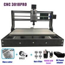 CNC 3018 PRO лазерной гравированное Дерево ЧПУ машины GRBL ER11 Хобби DIY гравировка машины для дерева PCB ПВХ Мини CNC3018 гравер