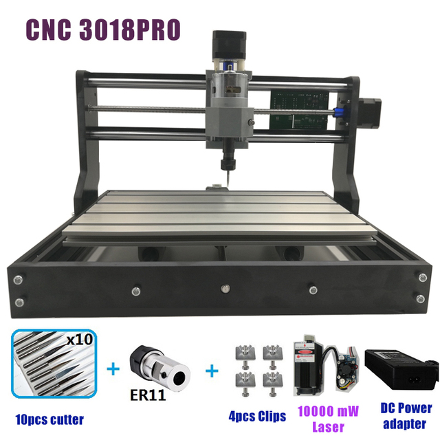 CNC 3018 PRO Engraving Machine Mini DIY Wood Router GRBL Control w// 2500mw Laser