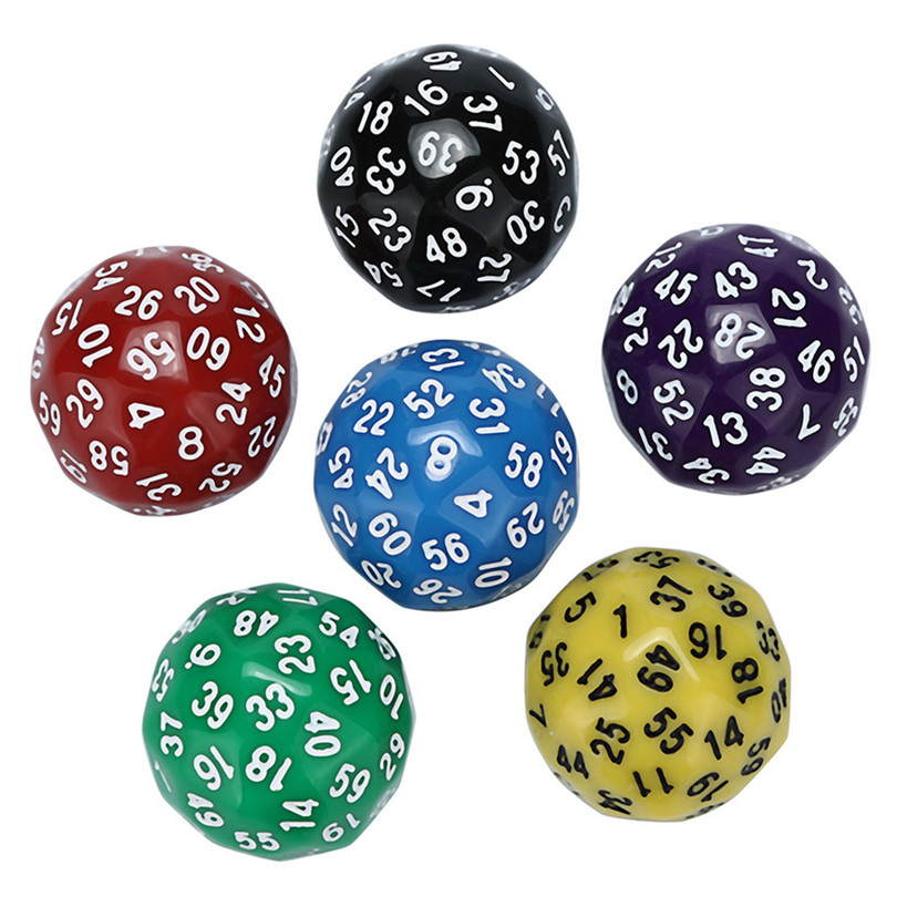 1pc D60 Multi Side Universe Digital Dice Acrylic Game Dices gift Polyhedral Dice Game gift New #3m11