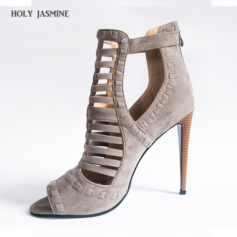 gladiator sandals women 2017 summer shoes Super sexy fashion high heels Nubuck Leather Cover Heel Thin Heels Cut-Outs Adhesive 2015 new deluxe brand 100% high quality flat summer women knee high gladiator sandals genuine leather cut outs cover heel shoes