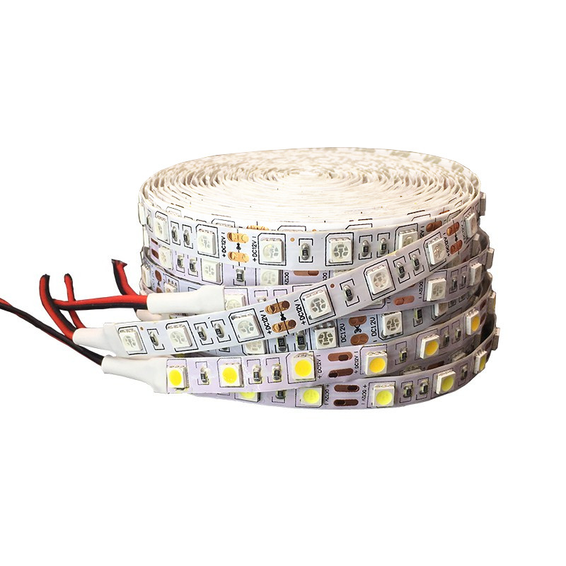 5050 RGB LED Strip light 12V Flexible Home Decoration Lighting 5M Tape LED Ribbon RGB/White/Warm White/Blue/Green/Red Waterproof 5m dc12v waterproof led strip 5050 smd 60led m flexible led light white warm white red green blue rgb tape ribbon