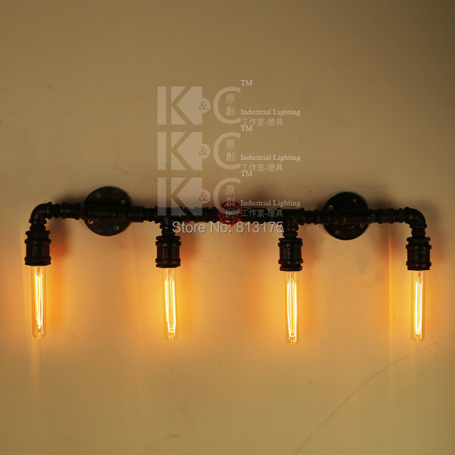 Kc Retro Warehouse Style Lighting Pipes Creative Personality Cafe Bar Decorative Wall Sconce