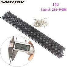 SMLLOW 18 Pcs Mountain / Road Bike Steel 14G/14K Spokes Black Colour High Strength Bicycle 170mm-350mm BZN001