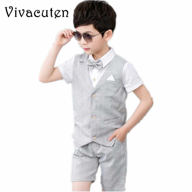 bbb10317e9cf0 Detail Feedback Questions about Boys 2PCS Vest + Shorts with Bow Tie ...