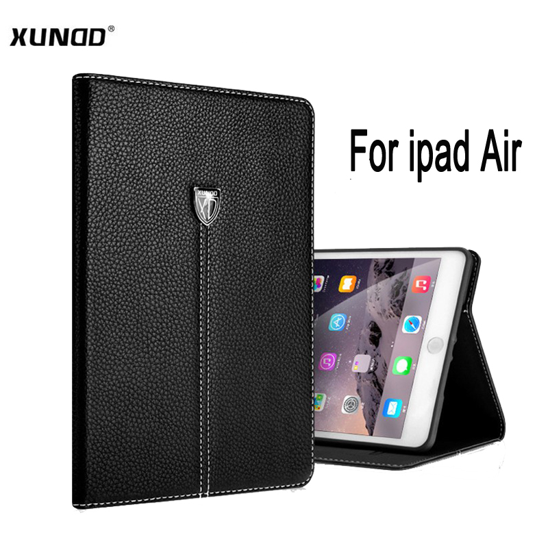 XUNDD For ipad Air Luxury Noble series Business Shockproof Flip pu Leather Smart Cover Case for ipad 5 protective Stand shell protective pu leather plastic flip open smart case for ipad mini light grey