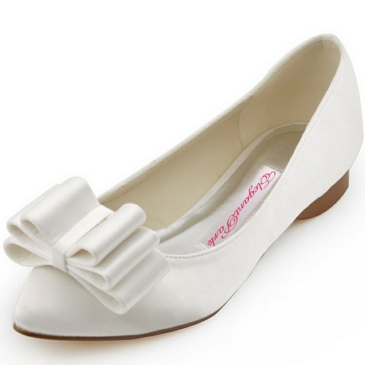 Flat Wedding Shoes Bow