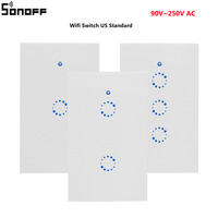 Sonoff T1 US Standard Wifi Smart Light Switch 1 2 3 Gang Wall Touch Screen Switch