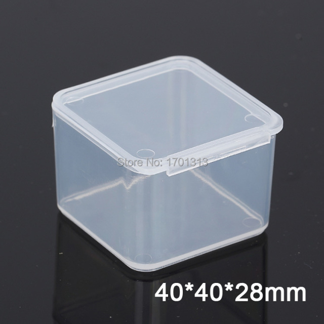 100pcs Small square transparent plastic box PP Storage Collections Container Box Case & 100pcs Small square transparent plastic box PP Storage Collections ...