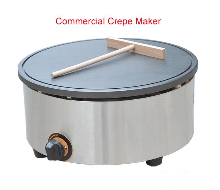 Single Burner Crepe Maker/Gas Pancake Maker/Pancake Furnace/Commercial Pancake Maker/Non-stick Crepe Maker FY-420.R mb dle412b01s50 dungs gas multibloc combined regulator and safety shut off valves single stage for gas burner new