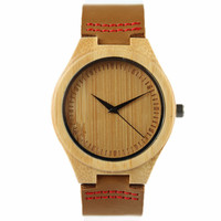New Fashion 100 Natural Bamboo Wood Watches Womens Luxury Vintage Round Quartz Watch For Ladies Relogio