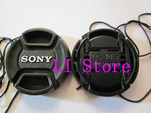 40.5mm 40.5 mm Center Pinch Snap-on Front Lens Cap hood Cover for sony Alpha DSLR SLR with Strap