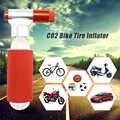 Mini Draagbare Mountainbike Fiets Luchtpomp Accessoires CO2 Cartridge Dual Head Fietsen Tire Pomp Bal Inflator Super Licht 28g