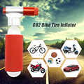 Mini Portable Mountain Bike Bicycle Air Pump Accessories CO2 Cartridge Dual Head Cycling Tire Pump Ball Inflator Super Light 28g