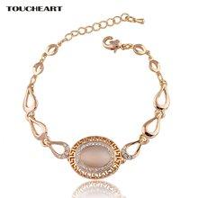 Новые браслеты toucheart золотого цвета из нержавеющей стали