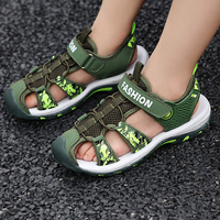 Summer Children Beach Boys Sandals Kids Shoes Closed Toe Arch Support Sport Sandals for Boys Eu Size 27 37 Outdoor boys shoes