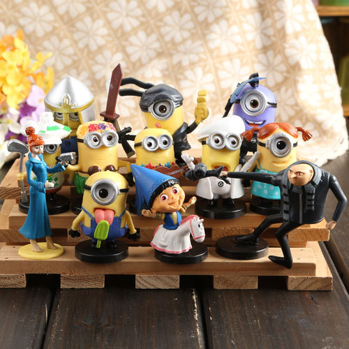 12pcs Set Minions Toys Doll Minion Bob Figurines Despicable Me Pvc