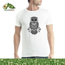 Owl Tattoo Mens T-shirt S-3XL T Shirts Funny Tops Tee New Unisex  High Quality Casual Printing 2018 Newest Fashion
