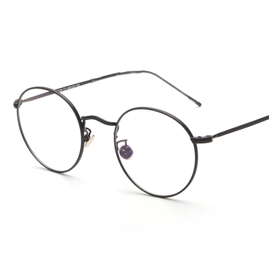 New Vintage Round Glasses Frames Women Metal Gold Frame Glasses Men ...