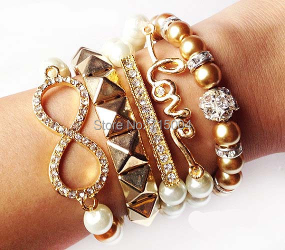 Arm Candy Bracelet Party Stack Dream Infinity Bow Heart Hope
