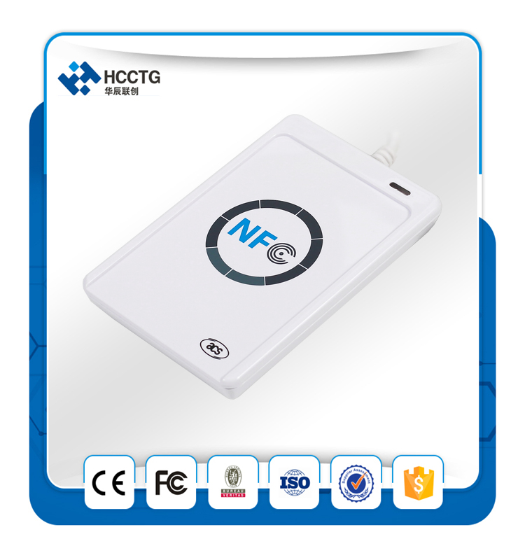 13.56mhz Android USB Contactless External NFC Smart Card Reader Skimmer used Mobile Phones ACR122U phones
