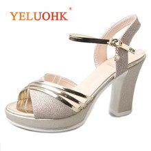 Platform Sandals Women Fashion 2019 Women Summer Shoes Gold Silver Extreme High Heel Women Sandals 10 CM