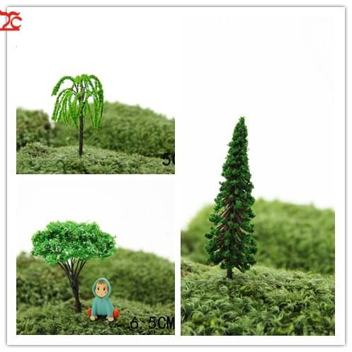 4pcs Fairy Garden Christmas Trees Miniature For Fairy Garden Moss Micro 2