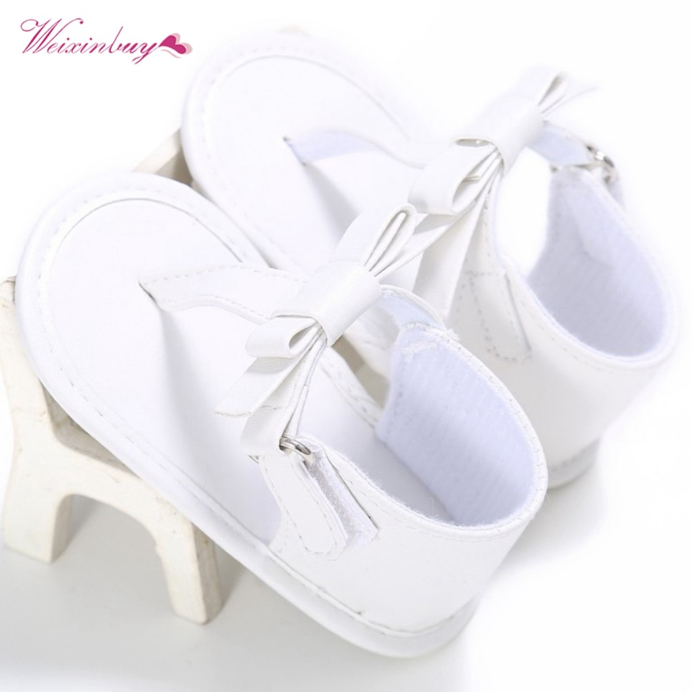 Summer Baby Sandals Girls PU Leather Bow Tie Princess Shoes Sandalias Bebe Bowknot Princess Shoes