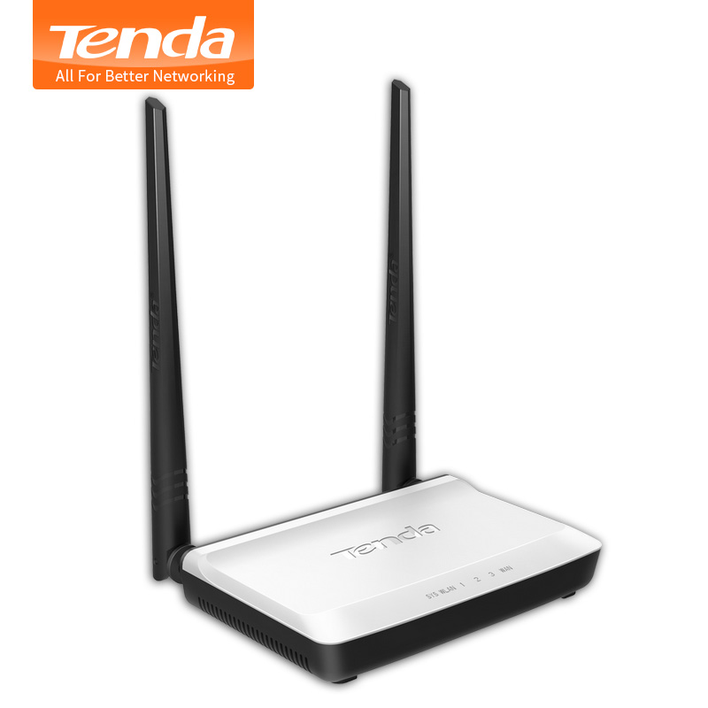 Tenda N300 Drahtlosen WIFI Router Multi Language Russian Version WLAN Repeater Booster Extender 802,11 b/g/n RJ45 4 Ports 300 Mbps