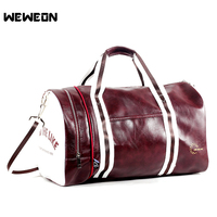 Quality Sports Bag for Men and Woman Gym Fitness Bag Soft PU Leather Travel Luggage Handbag Stylish Lady Yoga Shoulder Bags