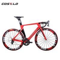 Новый Технология AEROMACHINE монокок один кусок полный дороги углерода полный велосипед дорога рамы велосипеда колеса R8000 список групп