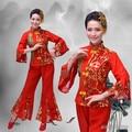 Disfraces Hmong Ropa 2016 Nuevo Otoño Antiguo Fan Danza Popular China Yangko Ropa Femenina Trajes de la Etapa Clásica Tradicional