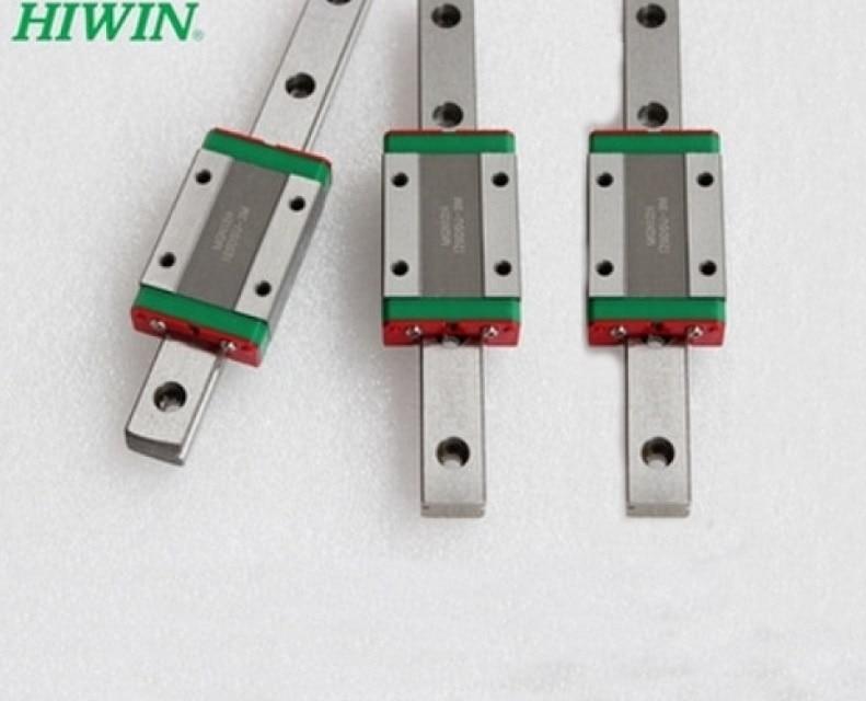 3 шт тайвань оригинальный HIWIN линейной направляющей MGNR15-L 270/270/390mm + 3 шт MGN15C блоки для мини ЧПУ деталей комплекты